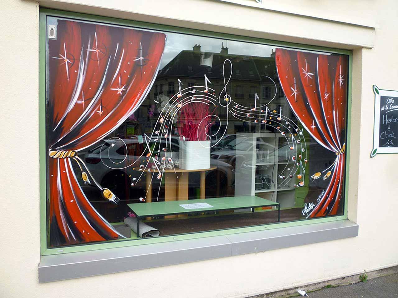#AC391F Déco Vitrines De Noël Peinture Part 2 6007 décoration de noel pour vitrine 1280x960 px @ aertt.com